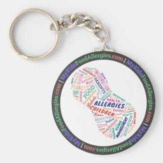 Allergie-Erdnuss-Wort-Wolke Keychain mein Kindes Schlüsselanhänger