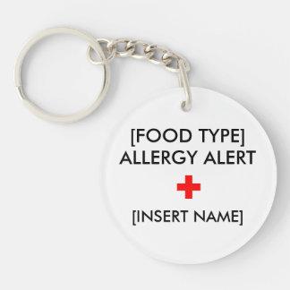 Allergie wachsames Keychain Schlüsselanhänger