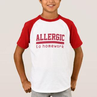 ALLERGISCH zu den HAUSAUFGABEN-witzigen Shirts u.