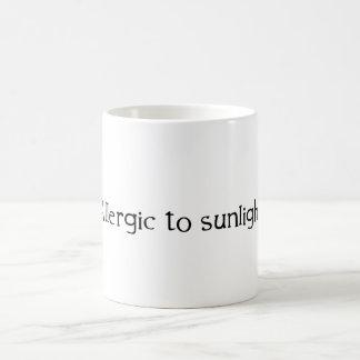 Allergisch zum Sonnenlicht Kaffeetasse