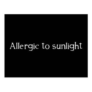 Allergisch zum Sonnenlicht Postkarte