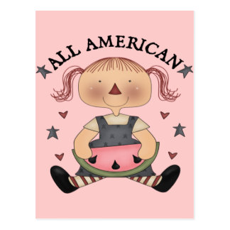 Alles amerikanische Mädchen Postkarte