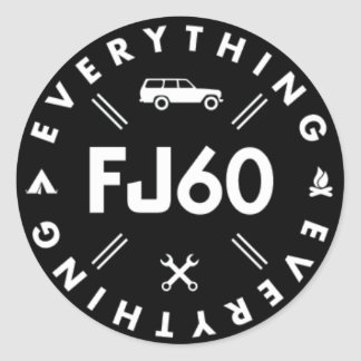 Alles Aufkleber des Logo-FJ60 - Schwarzes