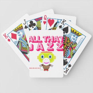 Alles das Jazz-Niedlicher Affe-Morocko Bicycle Spielkarten