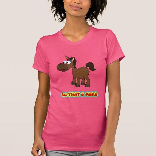 Alles das schwarzes Einhorn T-Shirt