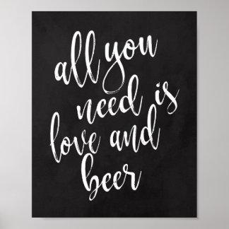 Alles, das Sie benötigen, ist Liebe-und des Poster