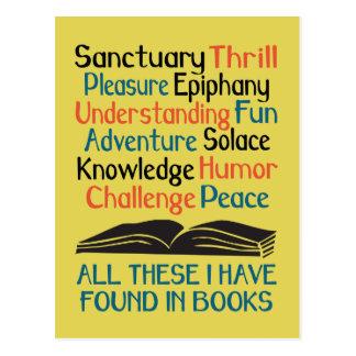 Alles diese, die ich in den Büchern gefunden habe Postkarte
