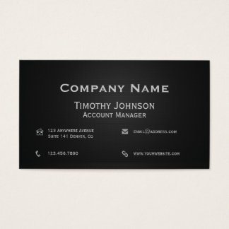 Alles Geschäfts-Schwarze Visitenkarte