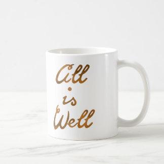 Alles Gold ist wohle Zitat-Typografie Kaffeetasse