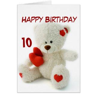 Alles- Gute zum Geburtstag10. Teddybär-Thema Karte
