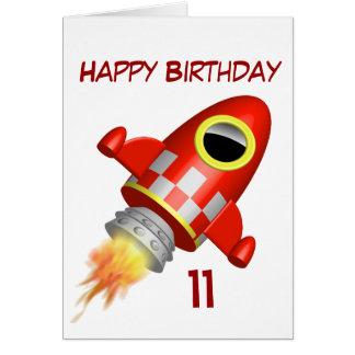 Alles- Gute zum Geburtstag11. kleines Rocket-Thema Karte