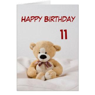 Alles- Gute zum Geburtstag11. Teddybär-Thema Karte