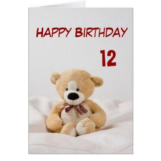 Alles- Gute zum Geburtstag12. Teddybär-Thema Karte