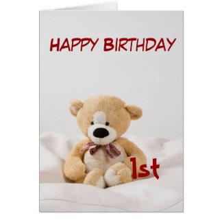 Alles- Gute zum Geburtstag1. Teddybär-Thema Karte