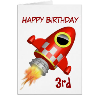 Alles- Gute zum Geburtstag3. Rocket-Thema Karte