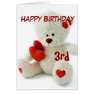 Alles- Gute zum Geburtstag3. Teddybär-Thema Grußkarte
