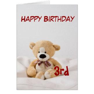 Alles- Gute zum Geburtstag3. Teddybär-Thema Karte