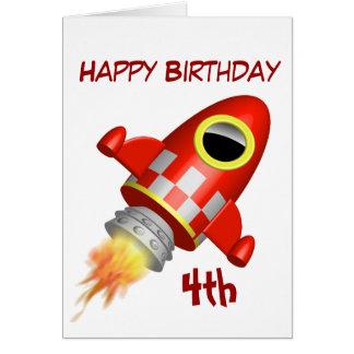 Alles- Gute zum Geburtstag4. kleines Rocket-Thema Karte