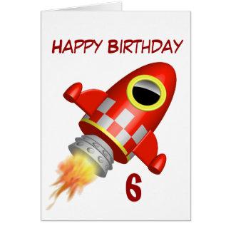 Alles- Gute zum Geburtstag6. kleines Rocket-Thema Karte