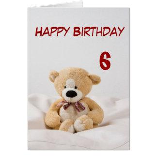 Alles- Gute zum Geburtstag6. Teddybär-Thema Grußkarte