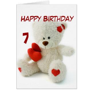 Alles- Gute zum Geburtstag7. Teddybär-Thema Grußkarte