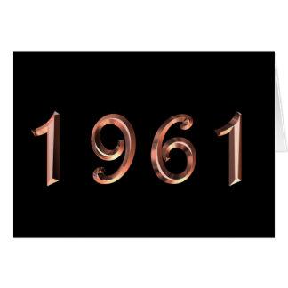 Alles Gute zum Geburtstag 1961 Geburtsjahr Karte