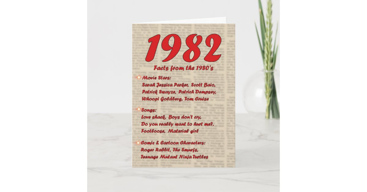 Alles Gute zum Geburtstag 1982 Geburtsjahr Karte | Zazzle.ch
