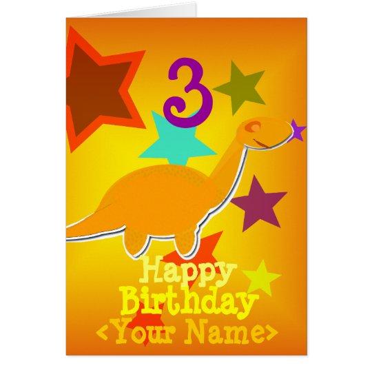 Alles Gute zum Geburtstag 3 Jahre Ihre Grußkarte