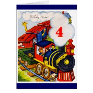 Alles Gute zum Geburtstag - 4-jährig-Junge Karte