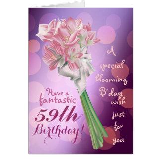 Alles Gute zum Geburtstag! - 59. rosa Blumen Karte