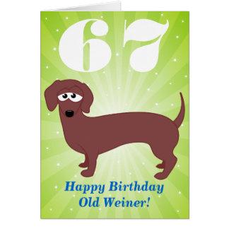 Alles Gute zum Geburtstag alter Weiner Karte