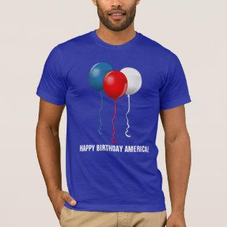 Alles Gute zum Geburtstag Amerika (Ballone) T-Shirt