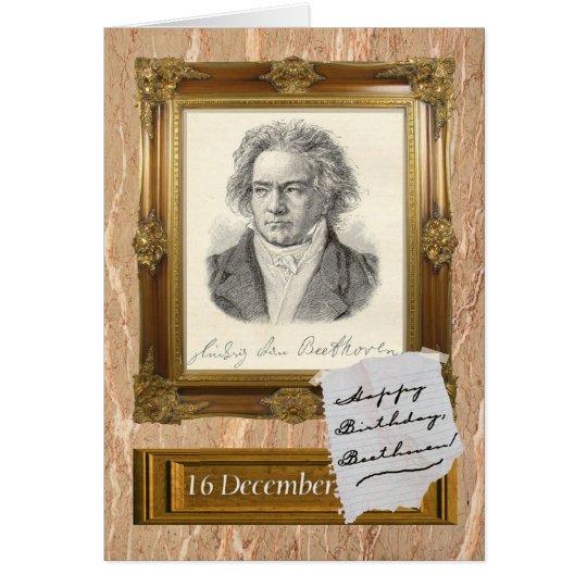 Alles Gute zum Geburtstag, Beethoven Grußkarte