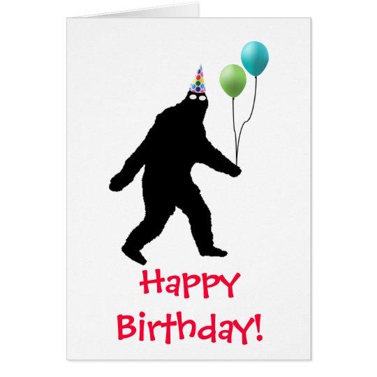 Alles Gute zum Geburtstag Bigfoots! Grußkarte