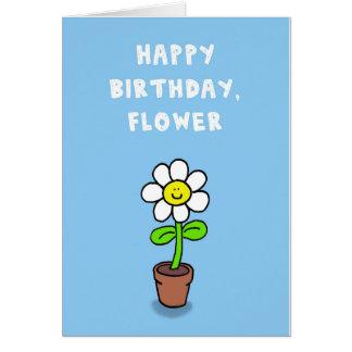 Alles Gute zum Geburtstag, Blume Grußkarte