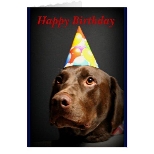 Alles Gute zum Geburtstag card~Chocolate Labrador Grußkarte