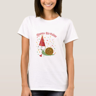 Alles Gute zum Geburtstag! Confetti-Schnecke T-Shirt
