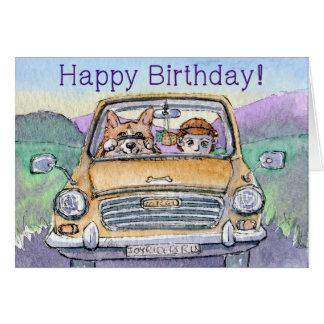 Alles Gute zum Geburtstag, Corgihund, der sein Karte