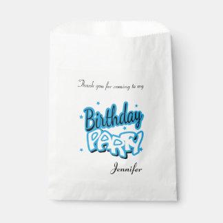 Alles Gute zum Geburtstag danken Ihnen | Baby-Blau Geschenktütchen