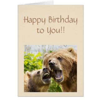 Alles Gute zum Geburtstag, das trägt, Spaß-Tier zu Karte