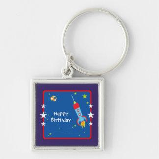 Alles Gute zum Geburtstag des Weltraum-1 Schlüsselanhänger