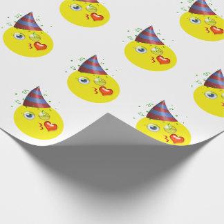 Alles Gute zum Geburtstag Emoji Einpackpapier