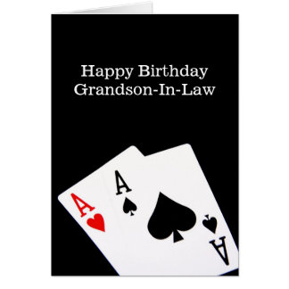 Alles Gute zum Geburtstag Enkel-In-Gesetzkarte Grußkarte