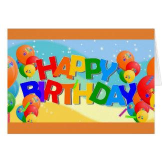 Alles Gute zum Geburtstag fasst Karte ab