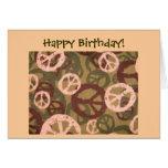 Alles Gute zum Geburtstag! - Friedenszeichen/Camou Karte