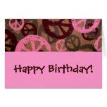 Alles Gute zum Geburtstag! - Friedenszeichen-Gebur Karte