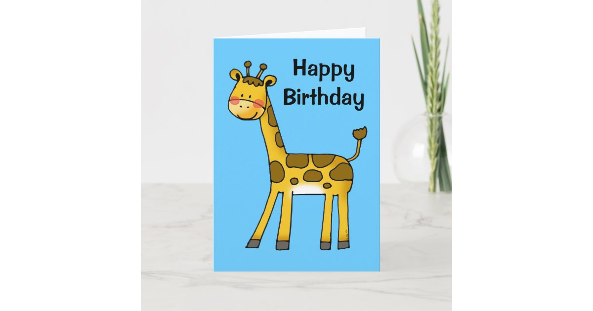Image Result For Happy Birthday Giraffe Happy Birthday Kind