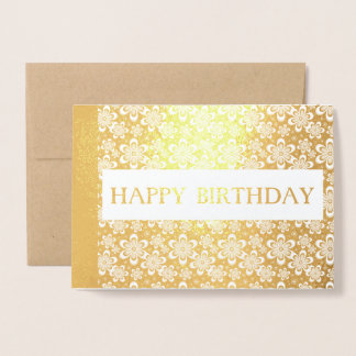 alles Gute zum Geburtstag goldene elegante Folienkarte