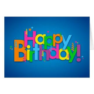 Alles Gute zum Geburtstag - helle Farben Karte