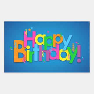 Alles Gute zum Geburtstag - helle Farben Rechteckiger Aufkleber
